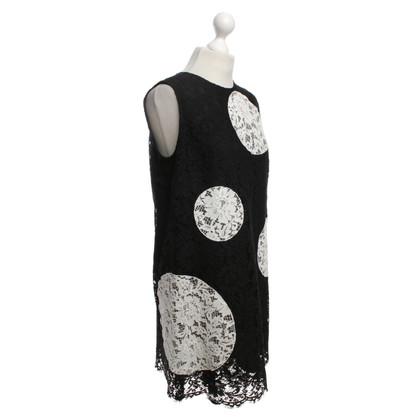 Dolce & Gabbana Kanten jurk in zwart / White