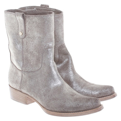 Jimmy Choo Goldfarbend cowboy boots