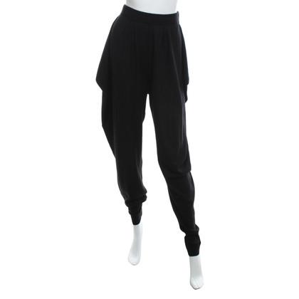 Malo Pantaloni di cashmere in nero