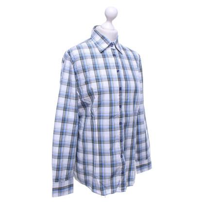 Van Laack Blouse blouse met ruitjespatroon