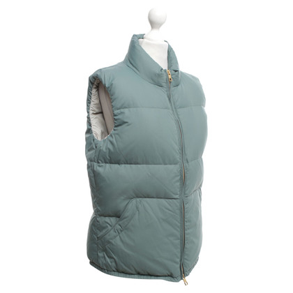 Closed Quilted vest in light green
