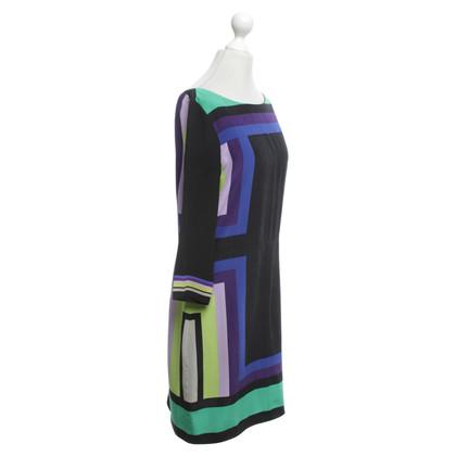Diane von Furstenberg Silk dress in black / multicolor