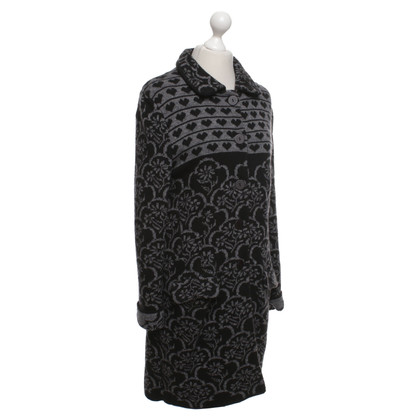 Twin-Set Simona Barbieri Knitted coat with pattern