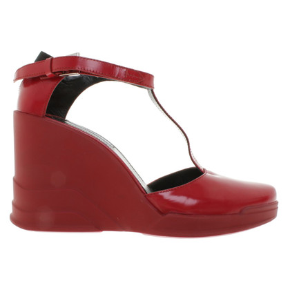 Prada Wedges in Rot