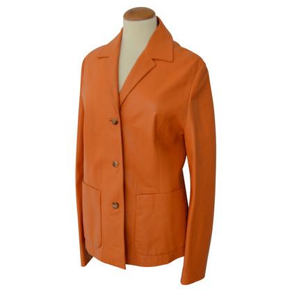 Hugo Boss Lederjacke in Orange