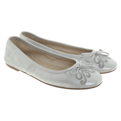 Bogner Ballerinas in silver metallic