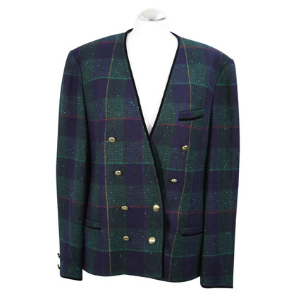 Basler Double-breasted blazer with plaid pattern