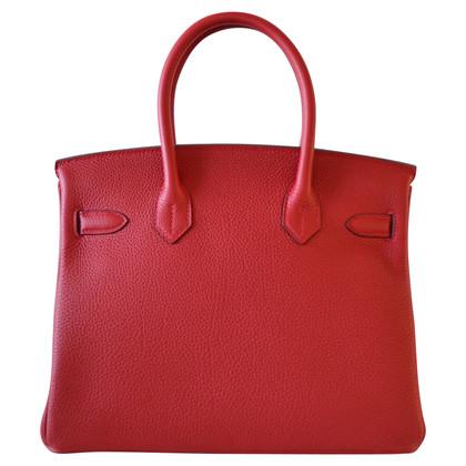 Hermès Hermes Birkin 30 Togo Rouge Vif Phdw