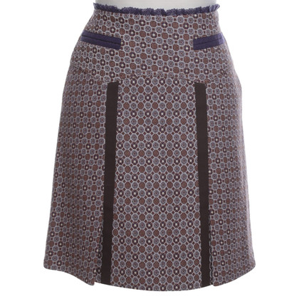 Strenesse Blue skirt with colorful patterns
