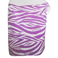 Blumarine Sarong white / purple