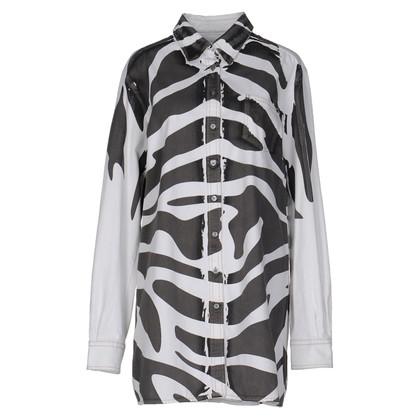 Pierre Balmain Robe chemise avec motif zèbre