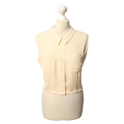 Chanel Blusa in seta senza maniche