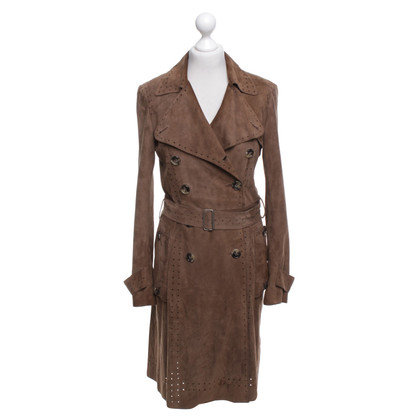 Theory Trench coat of suede