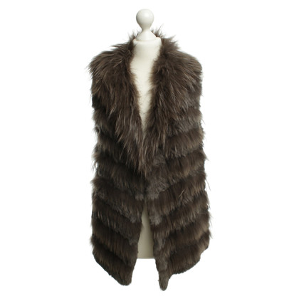Oakwood Fur vest in Brown