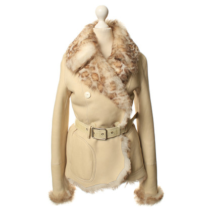 Patrizia Pepe Leather jacket in cream
