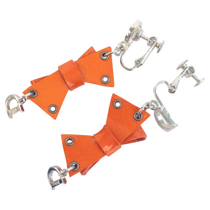 Christian Dior Orange Ohrclips