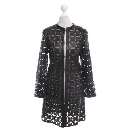 Caban Romantic Coat with leaves motif