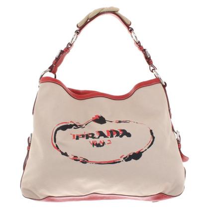 Prada Handtas in rood / beige