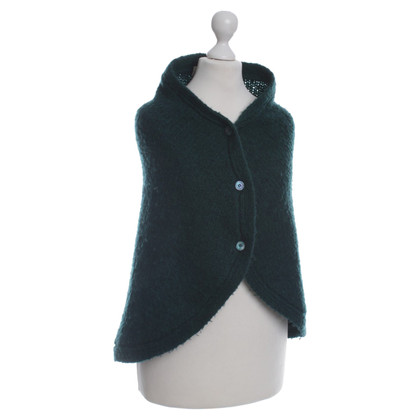 Marni Knitted Cape in green