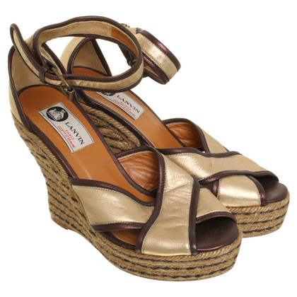 Lanvin Wedges in Goldfarben