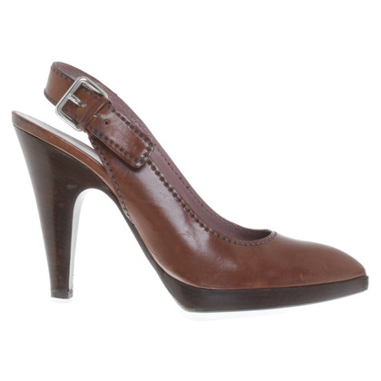 Miu Miu Sling-pumps in brown