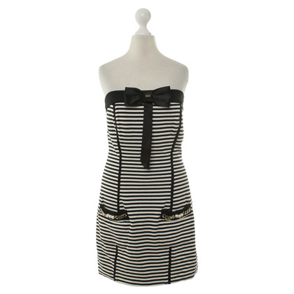 Elisabetta Franchi Bustier dress in black/white