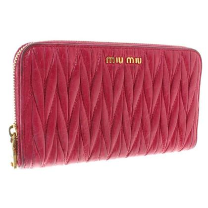 Miu Miu Leather wallet in fuchsia