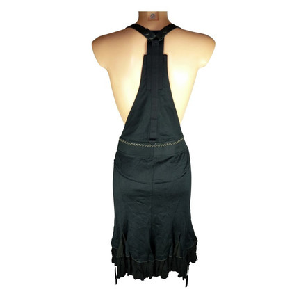 Marithé et Francois Girbaud Black skirt with leather carrier