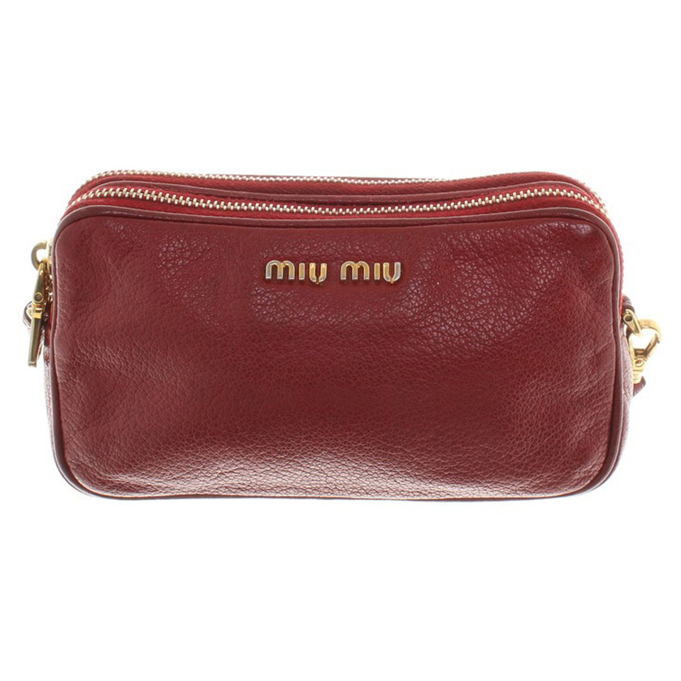Miu Miu Leather clutch with handle