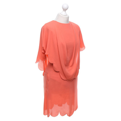 Valentino Silk dress in coral red