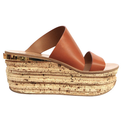 Chloé Platform sandals with leather