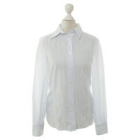 Aigner Blouse in wit/blauw