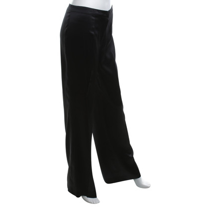 Escada pantaloni di seta in nero