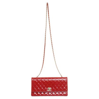 Chanel Umhängetasche aus rotem Leder