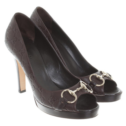 Gucci Peeptoes mit Muster