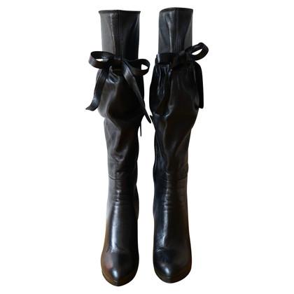 Prada Zwarte Leren-laarzen