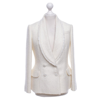 Christian Dior Bouclé blazer in cream