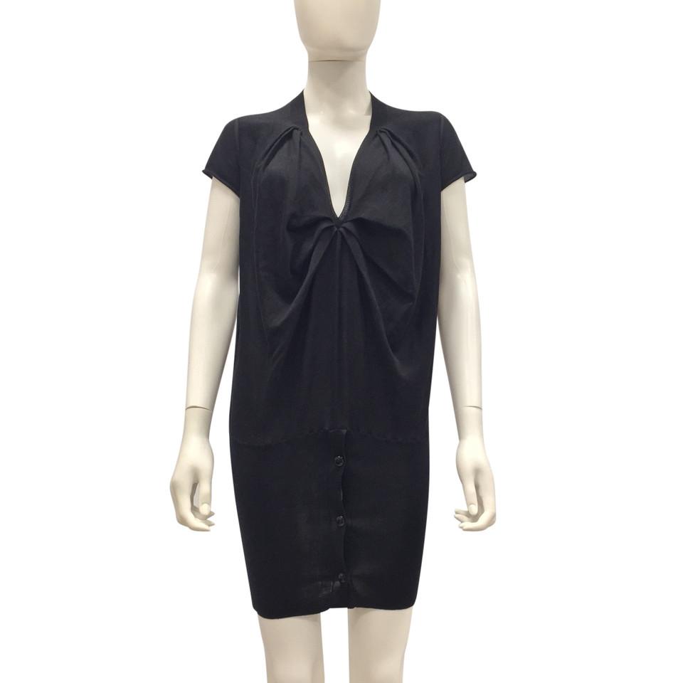 yves saint laurent robe en maille en noir acheter yves saint laurent robe en maille en noir. Black Bedroom Furniture Sets. Home Design Ideas