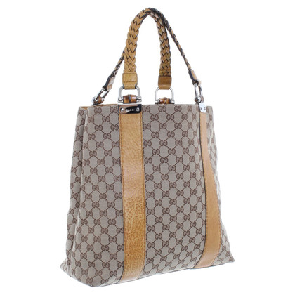 Gucci High Tote-bag with brown leather details