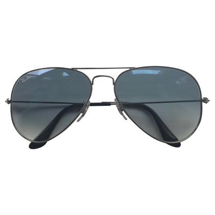 Ray Ban Sonnenbrille Silber mit hellblauem Verlauf