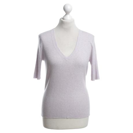 360 Sweater Top aus Rippstrick Violett