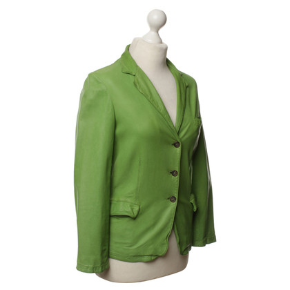 Miu Miu Leren jas groen