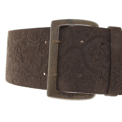 Patrizia Pepe Leather belt with embossing