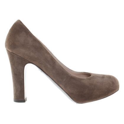 L'autre Chose Pumps aus Veloursleder