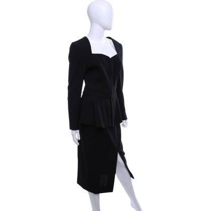 Rena Lange Costume made of crepe in black