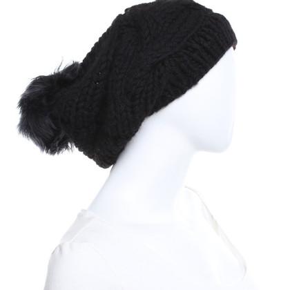 Karl Donoghue berretto di lana con pelle di agnello