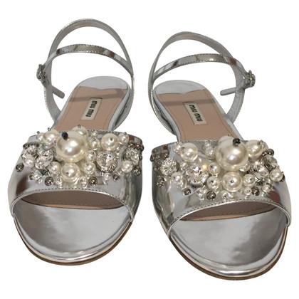 Miu Miu Sandali color argento