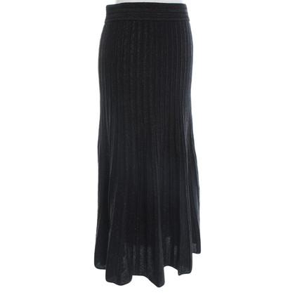 Sandro Knitted skirt in black / green