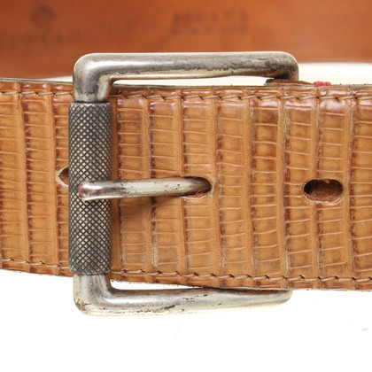 Fausto Colato Lizard leather belt