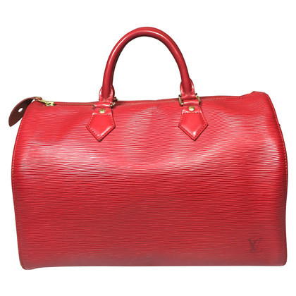 "Louis Vuitton ""Speedy 30 EPI leather"" in red"